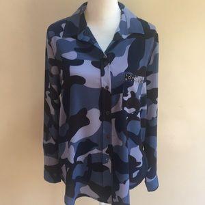 Tops - Button down Camo blouse